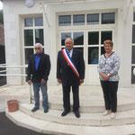 Le Maire François Gautry et ses 2 adjoints Michel Baud et Martine Boileau