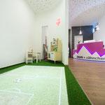 Der interaktive Spielbereich. Egal ob Fußball...