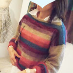 Six prismatic colors sweater