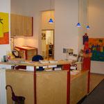 Empfang der Kinderarztpraxis Köln Nord