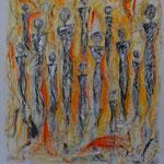 Aufbruch (80x70 cm, Acryl Mischtechnik/Papier) verkauft