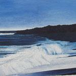 Schäumendes Meer (160x145 cm, Acryl Mischtechnik)