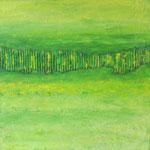 Garten Eden 1 (40x40 cm, Acryl Mischtechnik/Karton)