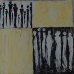 Small talk (20x20 cm, Acryl Mischtechnik)