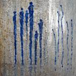 Neugierig (80x70 cm, Acryl Mischtechnik) verkauft