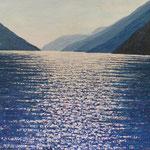 Lago Maggiore (80x100 cm, Acryl Mischtechnik) verkauft