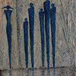 Bewundert (62x48 cm, Acryl Mischtechnik/Papier) verkauft