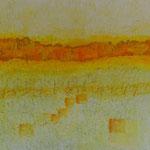 Südliches Licht (60x60 cm, Acryl Mischtechnik/Karton)