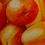Aprikosen (50x75 cm, Acryl Mischtechnik) Leihgabe
