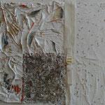 Die Schnalle (48x54 cm, Acryl Mischtechnik/Papier/Stoff)