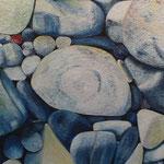 Steinsymphonie (100x100 cm, Acryl Mischtechnik) unverkäuflich