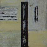 Spannend (20x20 cm, Acryl Mischtechnik)