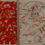 Gemeinsam (48x56 cm, Acryl/Papier/Metall) verkauft