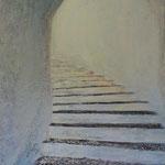 Treppe zum Licht (70x60 cm, Acryl Mischtechnik) verkauft