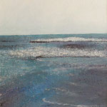 Wellen am Strand (80x75 cm, Acryl Mischtechnik)