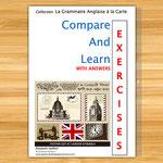 COMPARE AND LEARN EXERCISES WITH ANSWERS B2 C1 C2, la grammaire anglaise niveaux B2 à C2, 1ères, terminales, adultes, étudiants, le livre d'anglais pour faire des exercices de grammaire anglaise et les corriger et valider les niveaux B2 à C2
