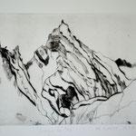 Montagne des Arcs. (Technique pointe sèche).