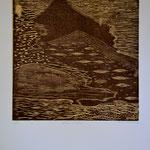 Montagnes D'Urbino. (Gravure sur bois).