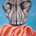 31 - l'homme tourmenté - pastels 2013 - dimensions 50x65 - non encadré