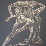 18 - passion dévorante - pastels 2013 (d'après une oeuvre de William Bouquereau 1850 et aussi inspiré de la Divine Comédie de Dante)