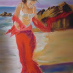 118 - Promenade sur la plage - pastels 2017