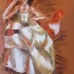 36 - L'espagnole - pastels 2013 - encadré