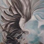 123 - L'homme oiseau - pastels 2018