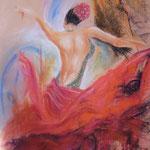 117 - Flamenco - pastels 2017 - dimensions 50x65 - non encadré