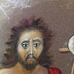 170 - détail visage pastel Saint Jean Baptiste le précurseur