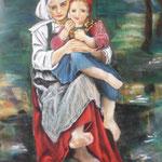 126 - Les 2 soeurs - pastels 2018 d'après l'oeuvre de William Bouquereau