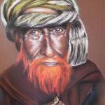 153 - berger du Cachemire (Inde) - papier mi teintes - non encadré - dimensions 50x65 - novembre 2019