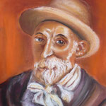 151 - portrait de Auguste Renoir - octobre 2019 - non encadré - dimensions 40x50