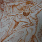 17 - Passion dévorante - pastels 2013 VENDU (d'après une oeuvre de William Bouquereau 1850 et aussi inspiré de la Divine Comédie de Dante)