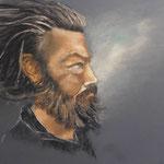 116 - Le penseur - pastels 2017