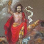 170 - Saint Jean Baptiste le précurseur - pastel avril 2021 - dimensions 40x50 - non encadré - vendu