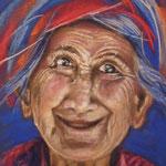 81 - La vieille péruvienne - pastels 2016 - encadré
