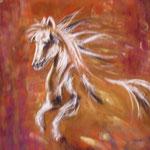 73 - Cheval fougueux - pastels 2015