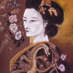 60 - Geish - pastels 2016 - encadré 61x81
