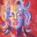 131- Marilyn Monroe - pastels juin 2018 - dimensions 50x65 - non encadré