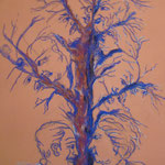 80 - L'arbre de vie - pastels 2016 - dimensions 50x65 - non encadré