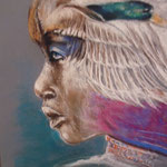 93 - Mirage (femme au canard) - pastels 2016