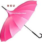 Brautschirm pink
