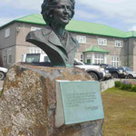 Denkmal für Margret Thatcher in Port Stanley, Falklandinseln