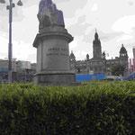 Denkmal für den schottischen Ingenieur James Watt, Erfinder der Dampfmaschine, Glasgow, Schottland