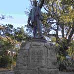 Denkmal für Sir Cecil Rhodes, Kappremier, Diamantenkönig, Gründer Nord- und Südrhodes,  Denkmal in den Compagnie Gärten von Kapstadt, Südafrika