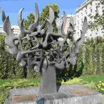 Holocaust-Mahnmal für 50000 jüdische Bürger aus Thessaloniki, die die Deutschen nach Auschwitz deportierten und vergasten