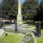 Denkmal an die Schlacht von Sehestedt, die die Schleswig-Holsteiner mit den Dänen 1813 für Napoleon gewonnen haben
