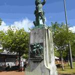 Denkmal für den Normannen Belain d´Esnambuc, der im Auftrag Frankreichs die Insel Martinique eroberte