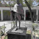 Denkmal für Mahatma Gandhi nahe dem Raj Ghat in Delhi, Indien