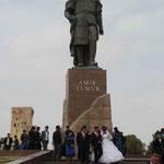 Timur Lenk/Tamerlan in Usbekistan, einer der größten Massenmörder